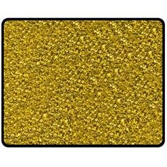 Sparkling Glitter Golden Double Sided Fleece Blanket (Medium)