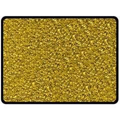 Sparkling Glitter Golden Double Sided Fleece Blanket (large)