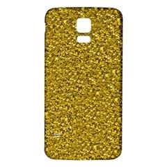 Sparkling Glitter Golden Samsung Galaxy S5 Back Case (White)