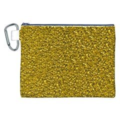 Sparkling Glitter Golden Canvas Cosmetic Bag (XXL)