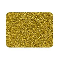 Sparkling Glitter Golden Double Sided Flano Blanket (Mini)