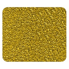 Sparkling Glitter Golden Double Sided Flano Blanket (Small)