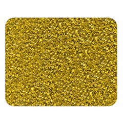 Sparkling Glitter Golden Double Sided Flano Blanket (large)