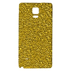 Sparkling Glitter Golden Galaxy Note 4 Back Case