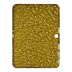 Sparkling Glitter Golden Samsung Galaxy Tab 4 (10 1 ) Hardshell Case