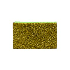 Sparkling Glitter Golden Cosmetic Bag (XS)