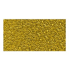 Sparkling Glitter Golden Satin Shawl