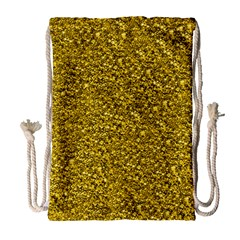 Sparkling Glitter Golden Drawstring Bag (large)