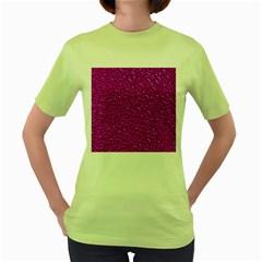Sparkling Glitter Hot Pink Women s Green T Shirt