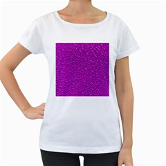 Sparkling Glitter Hot Pink Women s Loose Fit T Shirt (white)
