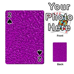 Sparkling Glitter Hot Pink Playing Cards 54 Designs