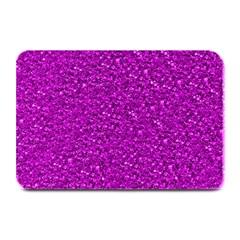 Sparkling Glitter Hot Pink Plate Mats