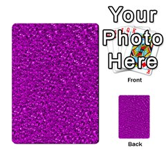 Sparkling Glitter Hot Pink Multi-purpose Cards (Rectangle)