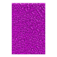 Sparkling Glitter Hot Pink Shower Curtain 48  x 72  (Small)