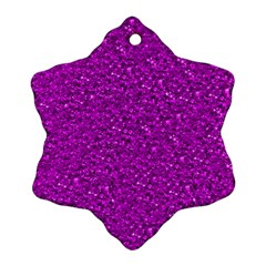 Sparkling Glitter Hot Pink Snowflake Ornament (2 Side)