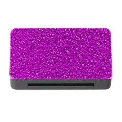Sparkling Glitter Hot Pink Memory Card Reader with CF