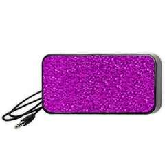 Sparkling Glitter Hot Pink Portable Speaker (black)