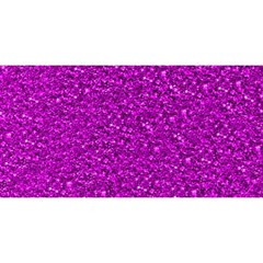 Sparkling Glitter Hot Pink You Are Invited 3d Greeting Card (8x4)