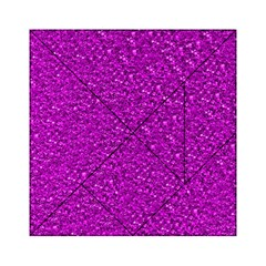 Sparkling Glitter Hot Pink Acrylic Tangram Puzzle (6  X 6 )