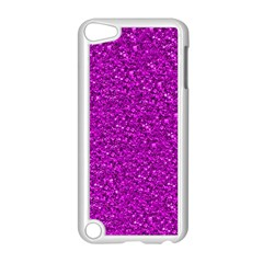Sparkling Glitter Hot Pink Apple Ipod Touch 5 Case (white)