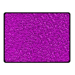 Sparkling Glitter Hot Pink Double Sided Fleece Blanket (Small)