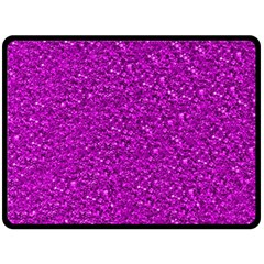 Sparkling Glitter Hot Pink Double Sided Fleece Blanket (Large)