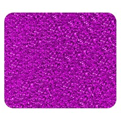 Sparkling Glitter Hot Pink Double Sided Flano Blanket (Small)
