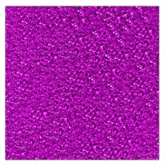 Sparkling Glitter Hot Pink Large Satin Scarf (Square)