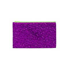 Sparkling Glitter Hot Pink Cosmetic Bag (XS)