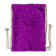 Sparkling Glitter Hot Pink Drawstring Bag (large)