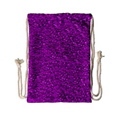 Sparkling Glitter Hot Pink Drawstring Bag (Small)