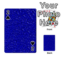 Sparkling Glitter Inky Blue Playing Cards 54 Designs