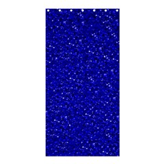 Sparkling Glitter Inky Blue Shower Curtain 36  X 72  (stall)