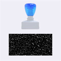 Sparkling Glitter Inky Blue Rubber Stamps (Medium)