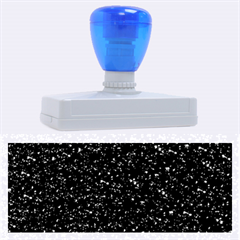 Sparkling Glitter Inky Blue Rubber Address Stamps (xl)
