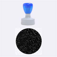 Sparkling Glitter Inky Blue Rubber Round Stamps (Medium)