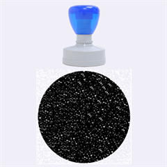 Sparkling Glitter Inky Blue Rubber Round Stamps (large)