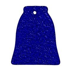 Sparkling Glitter Inky Blue Ornament (Bell)