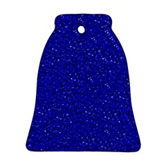 Sparkling Glitter Inky Blue Bell Ornament (2 Sides)