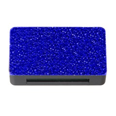 Sparkling Glitter Inky Blue Memory Card Reader With Cf