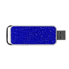 Sparkling Glitter Inky Blue Portable Usb Flash (two Sides)