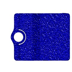 Sparkling Glitter Inky Blue Kindle Fire Hdx 8 9  Flip 360 Case