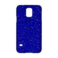 Sparkling Glitter Inky Blue Samsung Galaxy S5 Hardshell Case