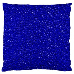 Sparkling Glitter Inky Blue Standard Flano Cushion Cases (Two Sides)