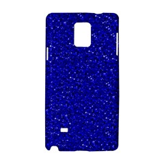 Sparkling Glitter Inky Blue Samsung Galaxy Note 4 Hardshell Case
