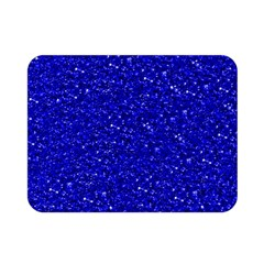 Sparkling Glitter Inky Blue Double Sided Flano Blanket (Mini)