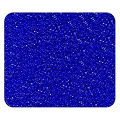 Sparkling Glitter Inky Blue Double Sided Flano Blanket (Small)