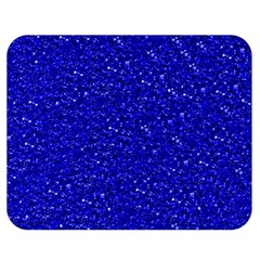 Sparkling Glitter Inky Blue Double Sided Flano Blanket (Medium)