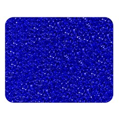 Sparkling Glitter Inky Blue Double Sided Flano Blanket (Large)