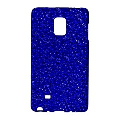 Sparkling Glitter Inky Blue Galaxy Note Edge